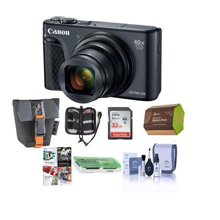 Canon Powershot Sx740 Hs Digital Camera Black With Premium Accessory Bundle 2955c001 B