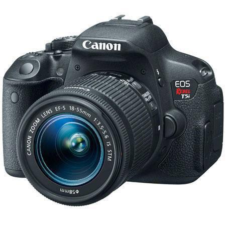Canon EOS Rebel T5i DSLR Camera with EF-S 18-55mm f/3.5-5.6 IS STM Lens - Special Promotional Bundle