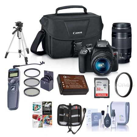 Canon EOS Rebel T6 DSLR with 18-55mm IS and 75-300mm III Lenses and ...