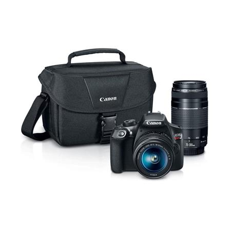 EOS Rebel T6 DSLR 2 Lens Camera Kit - with Promo Printer Bundle