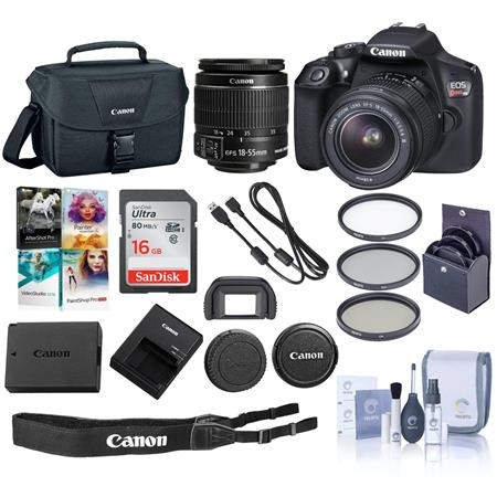 Canon Eos Rebel T6 Dslr With 18 55mm Is Lens And Free Pc Accessory