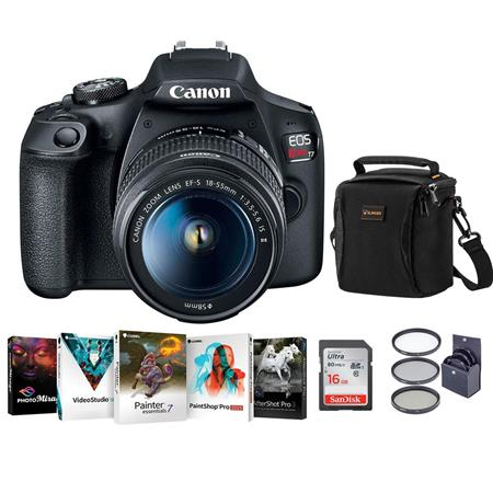 Canon Eos Rebel T7 Dslr Camera With Ef S 18 55mm F 3 5 5 6 Ii Lens W Acc Bundle