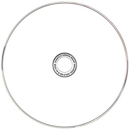 graphic relating to Printable Blu Ray Discs identify Delkin Systems 6x BD-R Archival Gold Blu-ray Inkjet Printable Disc, 25 Pack Spindle