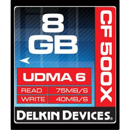 Delkin Devices 500X Compact Flash Card: Picture 1 regular