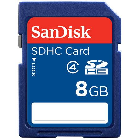 SanDisk 8GB Secure Digital High Capacity (SDHC) Class 4 Memory Card