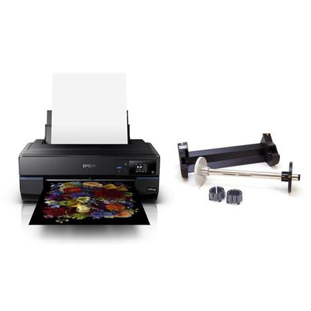 Epson SureColor P800 Standard Edition UltraChrome HD Inkjet Photo Printer,  - With Epson Roll Media Adapter