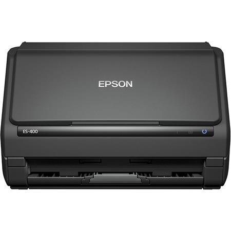 Epson WorkForce ES-400 Duplex Document Scanner, 300 dpi Optical/1200 dpi  Maximum Resolution, Up to 35 ppm/70 ipm Scan Speed, 50 Sheet Automatic