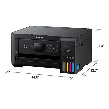 Epson Expression Ecotank Et 2750 Wireless All In One Inkjet Printer Scan Copy C11cg22201