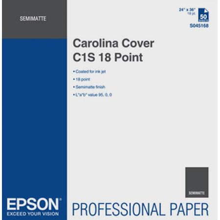 Epson S045168 Carolina Cover C1S 18 Point Proofing Paper, 24x36