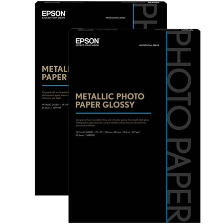 Epson 2 Pack S045590 Glossy Photo Paper 13x19 25 Sheets