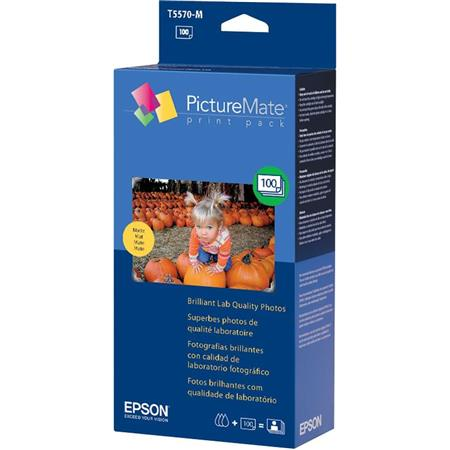 Epson Print Pack Kit for the PictureMate Printer, Paper & Ink for 100 4x6