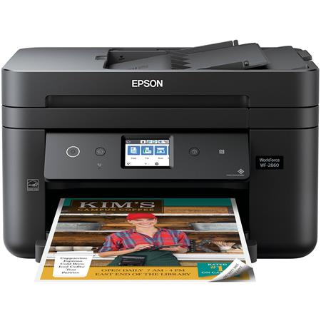 Epson WorkForce WF-2860 Wireless Color All-in-One Inkjet Printer - Print,  Copy, Scan, Fax