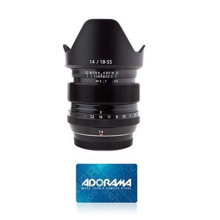 Fujifilm XF 14mm (21mm) F2 8 R Lens - With Free $50 Adorama Gift Card