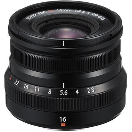Fujifilm XF 16mm f/2 8 R WR X Mount Lens, Black