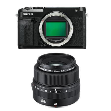 Fujifilm GFX 50R Medium Format Mirrorless Camera (Body Only) - with  Fujifilm FUJINON GF 63mm F/2 8 R WR Lens