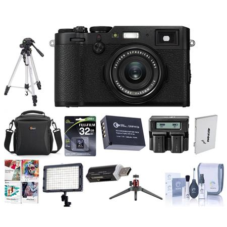 Fujifilm X100F 24 3MP Camera Fujinon 23mm f/2 Lens Black With Premium Acc  Bundle