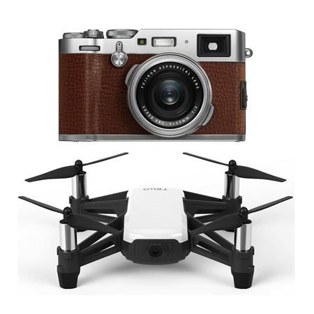 Fujifilm X100F 24 3MP Digital Camera 23mm f/2 Lens, Brown W/RYZE/DJI Tello  Drone