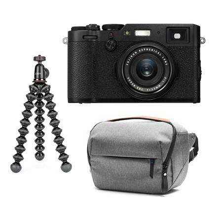 Fujifilm X100F 24 3MP Camera, Fujinon 23mm f/2 Lens, Black W/GorillaPod/Case