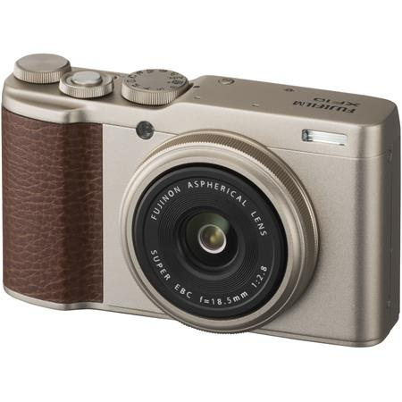 Fujifilm X-F10 Digital Camera with 18 5mm Wide Angle Lens, Champagne Gold