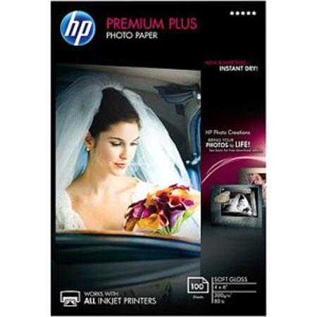 HP Premium Plus Soft Glossy Photo Inkjet Paper, 4x6