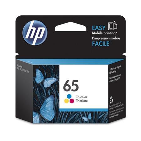 HP 65 Tri-Color Original Ink Cartridge for DeskJet 3752 ...