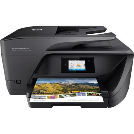 Used HP OfficeJet Pro 6968 All-in-One Thermal Inkjet Printer, 18 ppm  Black/10 ppm Color, 600x1200 dpi, 225 Sheet Standard Input Tray - Print,  Copy,