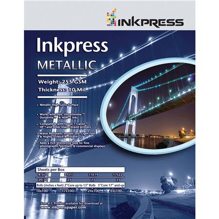 Inkpress Metallic Gloss Glossy Photo Paper 5x7 50 Sheets Mp5750