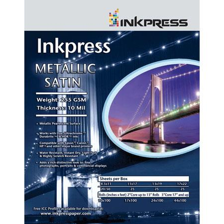 Inkpress Metallic Satin Luster Photo Paper 85x11 5 Sheets Mps85115