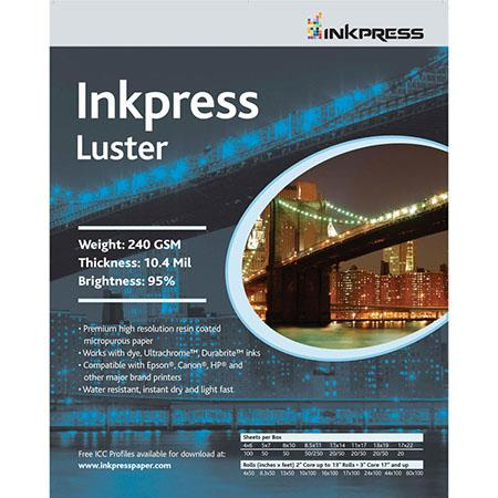 Inkpress Luster Premium Photo Paper 16x20 20 Sheets Pcl162020
