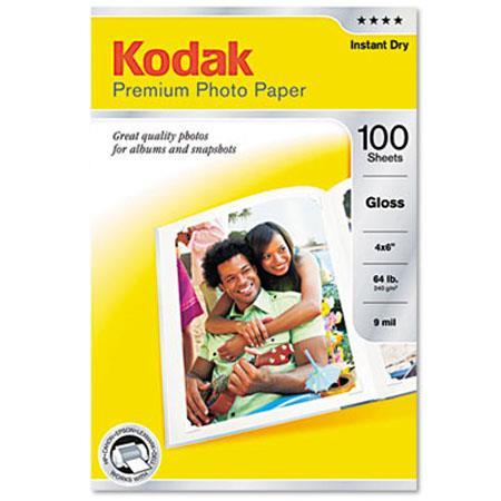 KODAK Premium Glossy Photo Inkjet Paper, 4x6