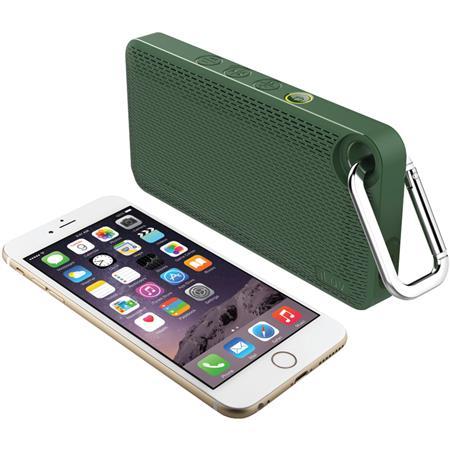 iLuv Aud Mini Smart 6 Slim Portable Bluetooth Speaker, Single, Green