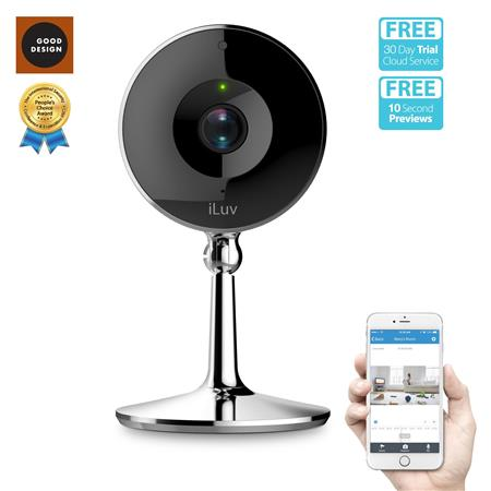 iLuv mySight 2K HD Wi-Fi Cloud-Based Video Camera for Home and Business  Monitoring