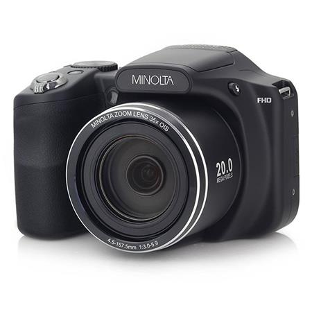 Minolta M35Z 20MP 1080p HD Bridge Digital Camera with 35x ...