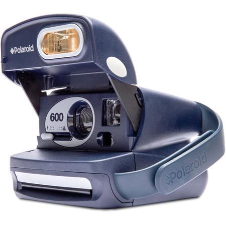 impossible polaroid 600 round camera, blue 2874