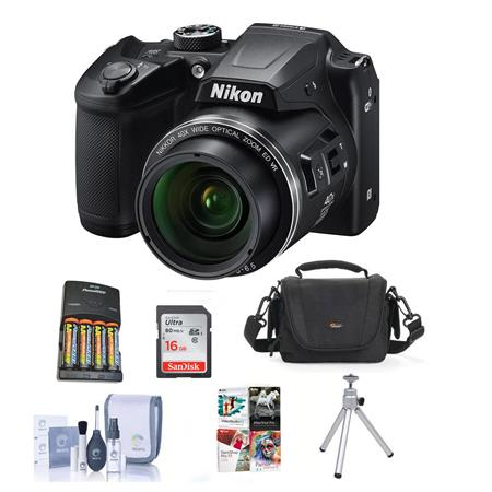 Nikon Coolpix B500 Digital Point & Shoot Camera with Free Accessories, Black