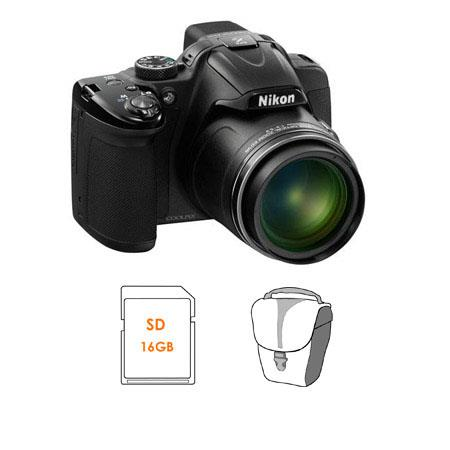 b60dee72c Nikon Coolpix P520 Digital Camera, Black - BUNDLE 26397 A - Adorama