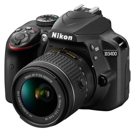 Nikon D3400 DSLR with AF-P DX NIKKOR 18-55mm f/3.5-5.6G VR Lens, Black