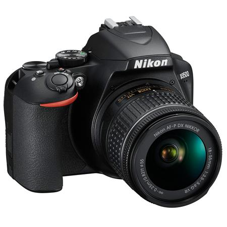 D3500 DSLR with AF-P DX NIKKOR 18-55mm f/3.5-5.6G VR Lens, Black