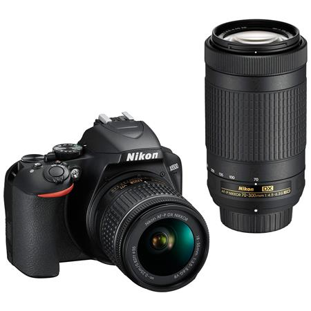 Nikon D3500 24MP DSLR Camera with AF-P DX NIKKOR 18-55mm f/3 5-5 6G VR Lens  and AF-P DX NIKKOR 70-300mm f/4 5-6 3G ED Lens