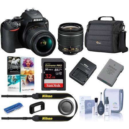 Nikon D3500 24MP DSLR Camera with AF-P DX NIKKOR 18-55mm f/3 5-5 6G VR  Lens, Black Starter Bundle