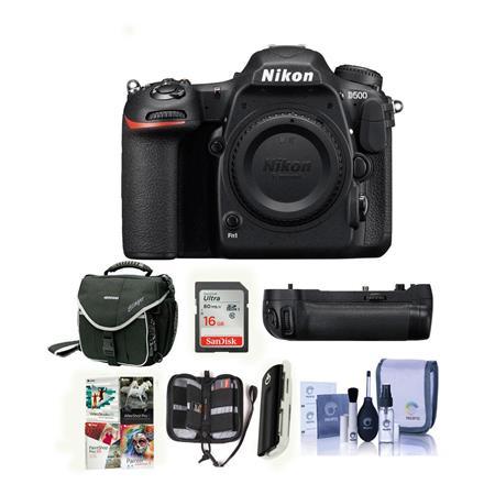Nikon D500 DSLR Body with Nikon MB-D17 Battery Grip and Accessory Bundle