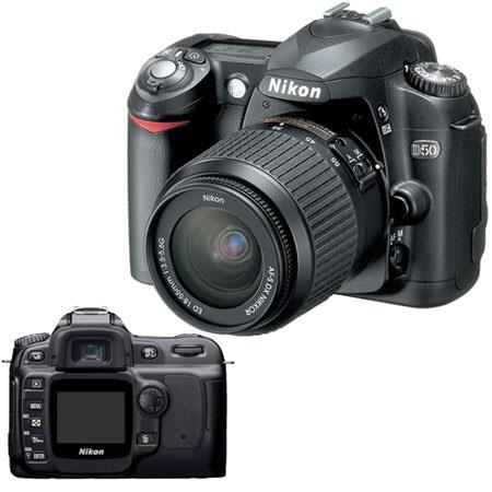 nikon d50 digital slr camera outfit, with 18 55mm f/3.5 5