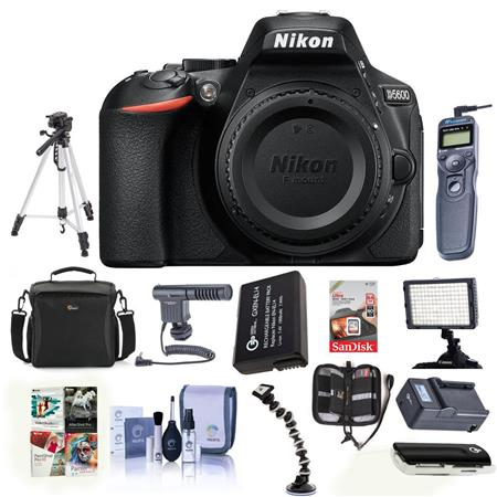Nikon D5600 DSLR Camera Body, Black With Pro Accessory Bundle