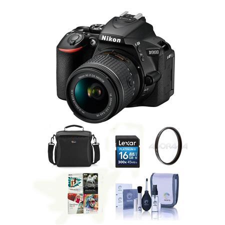 Nikon D5600 DSLR Camera w/AF-S DX 18-140mm f/3 5-56G ED VR Lens W/Free Ac  Bundle