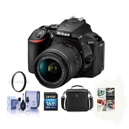 Nikon D5600 DSLR Camera with AF-P DX NIKKOR 18-55mm Lens Black W ...