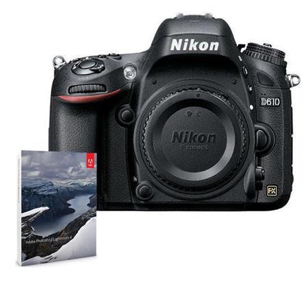 Nikon D610DSLR Body with Adobe Photoshop Lightroom 6