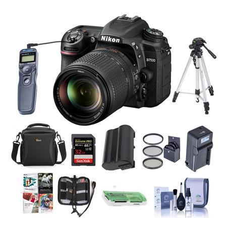 Nikon D7500 DSLR with 18-140mm VR Lens With Premium Accessory Bundle
