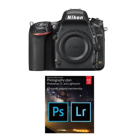 Nikon D750 DSLR Camera Body W/Adobe Creative Cloud with 20GB Cloud Storage  12 Mn