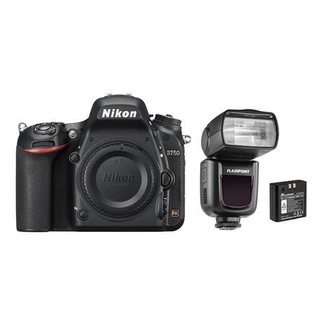Nikon D750 DSLR Body - Bundle With Flashpoint Zoom Li-on R2 TTL On-Camera  Flash Speedlight for Nikon