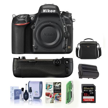 Nikon D750 DSLR Body with Free Nikon MB-D16 Battery Grip Kit (Grip +  Accessories)